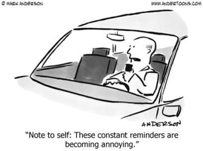 reminder cartoon