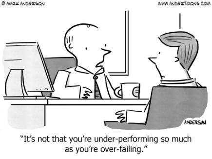 Under performing over failing